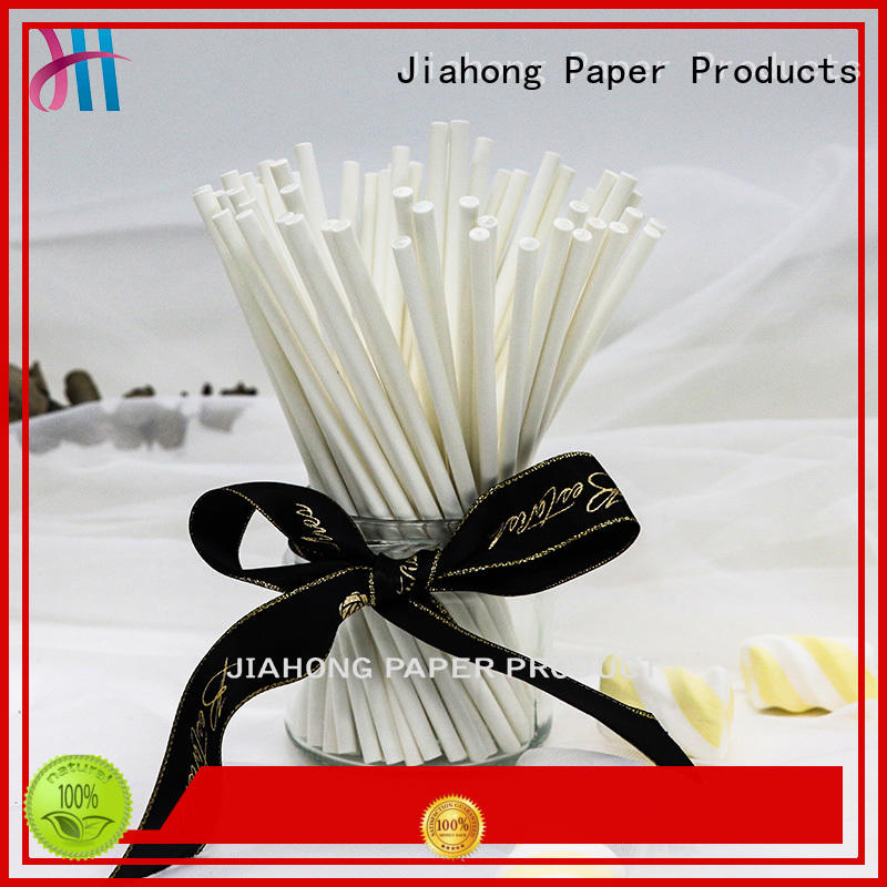 Jiahong clean extra long lollipop sticks printed for lollipop