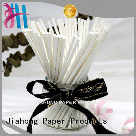 Jiahong eco friendly fsc certified paper sticks dropshipping for marshmallows
