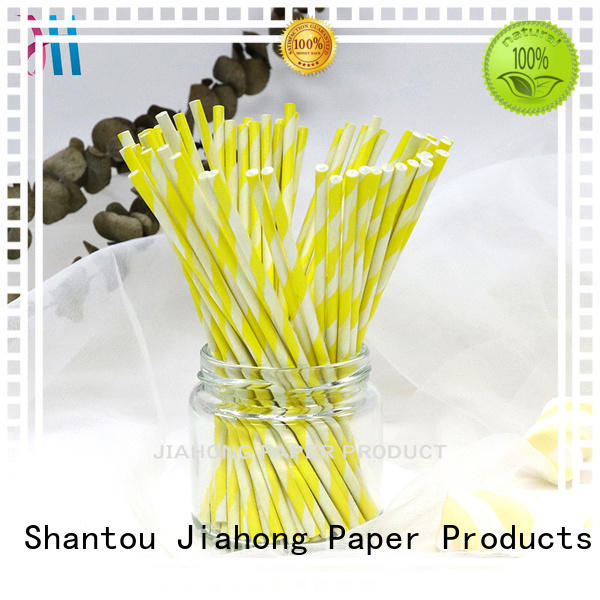 Food grade colorful striped paper stick  extra long lollipop sticks