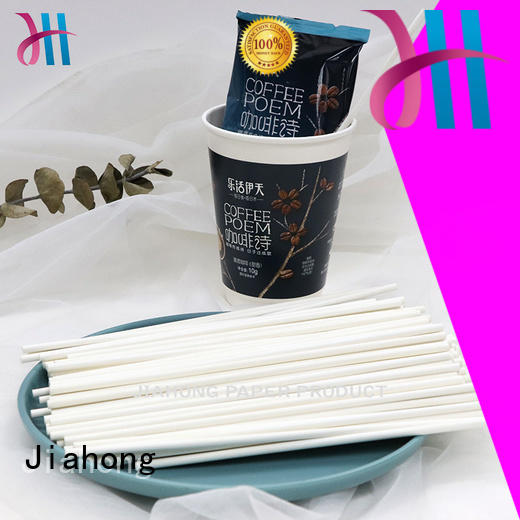 Jiahong advanced technology coffee stirring stick order now for packed coffee