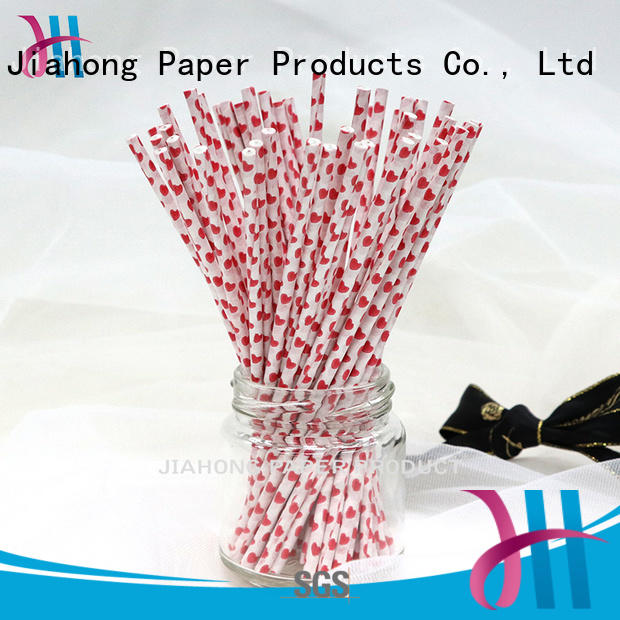 Customized colorful heart pattern baking paper stick 4.0*150mm