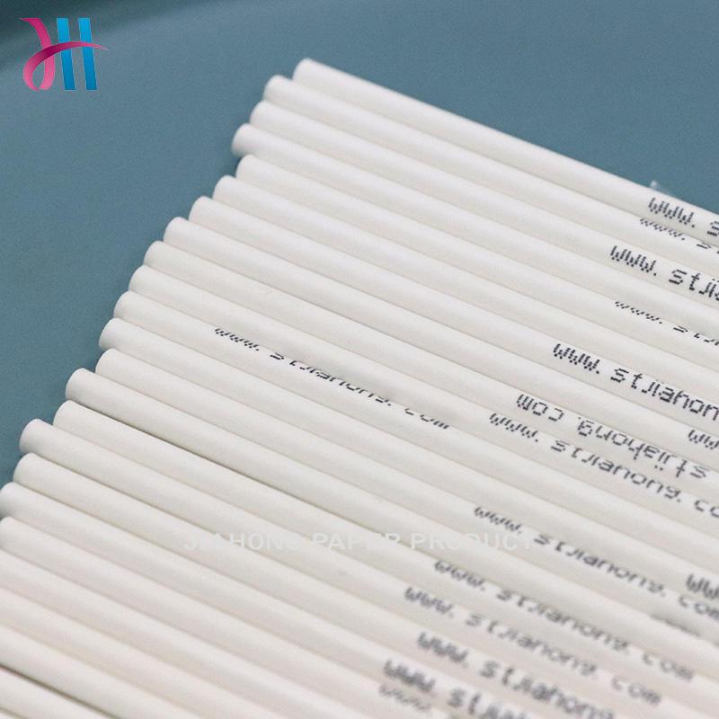 wholesale lollipop sticks Paper sticks with customized logo 3.4*100mm