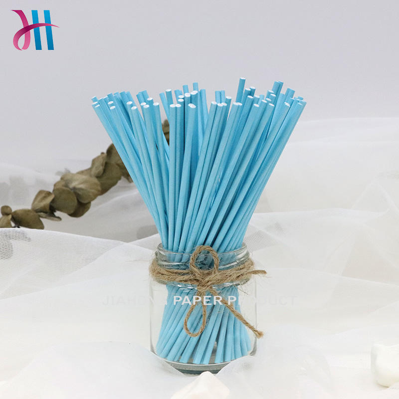 Printed paper sticks for candy blue lollipop sticks 3.0*152mm