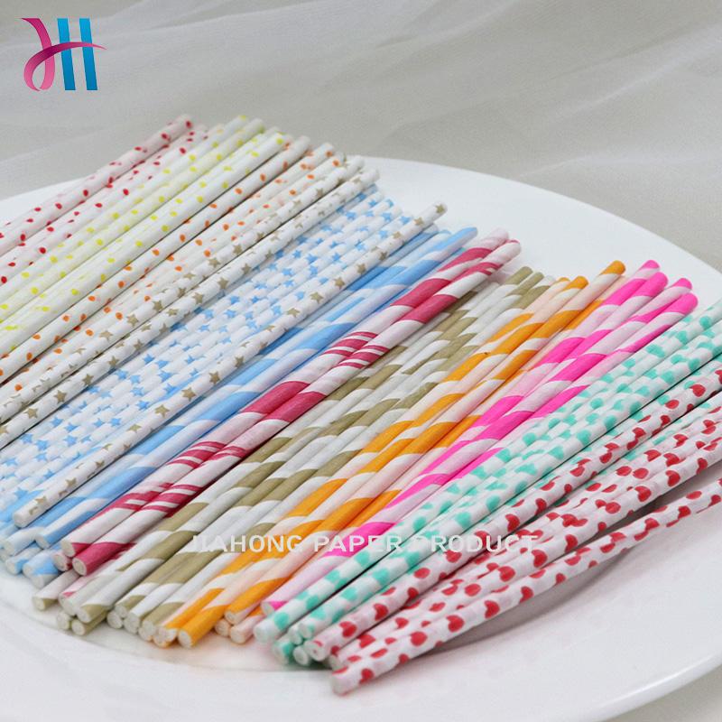 blue lollipop sticks Printed paper sticks for lollipop 3.5*150mm