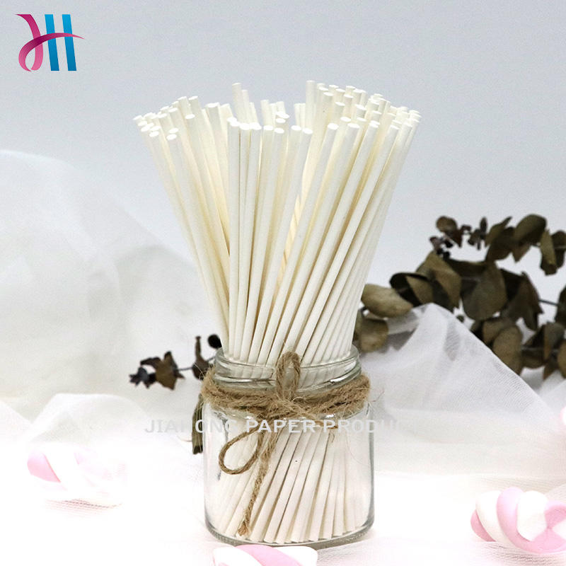 custom lollipop sticks Food grade paper sticks for candy 3.0*150mm