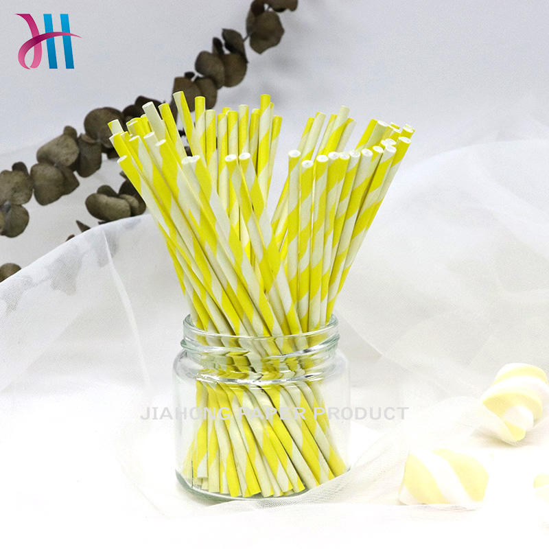 Food grade colorful striped paper stick  extra long lollipop sticks
