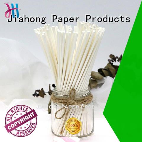 custom lollipop sticks Food grade paper sticks for candy 3.0*150mm