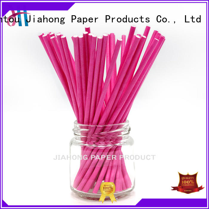 Jiahong printting colored lollipop sticks for lollipop