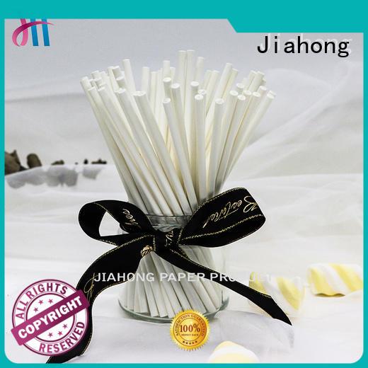 Jiahong environmental lollipop paper stick in different colors for lollipop