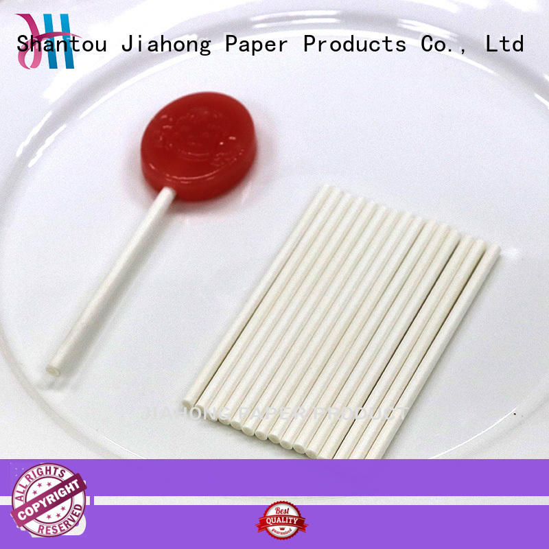 Jiahong white large lollipop sticks types for lollipop