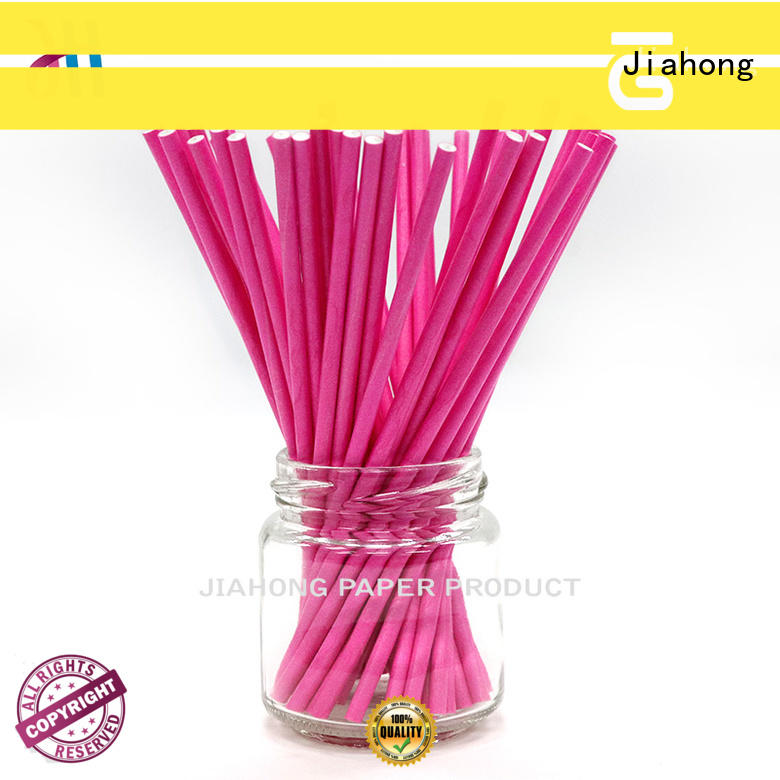 Jiahong clean red and white lollipop sticks printed for lollipop