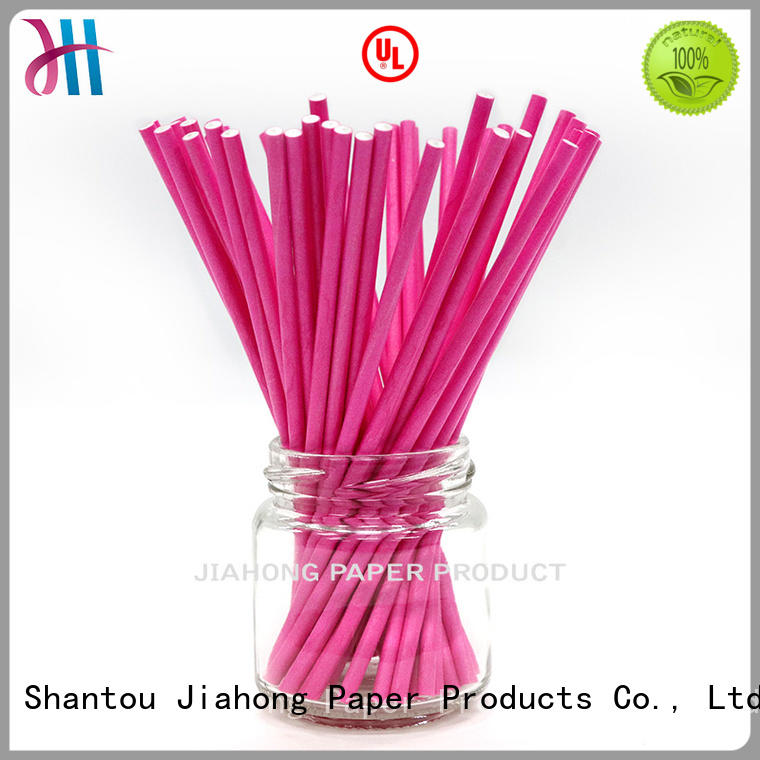 Jiahong fashion design lollipop paper stick vendor for lollipop