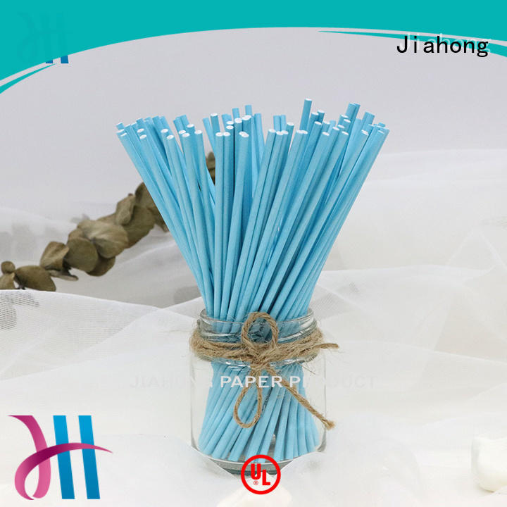 Jiahong fashion design blue lollipop sticks types for lollipop