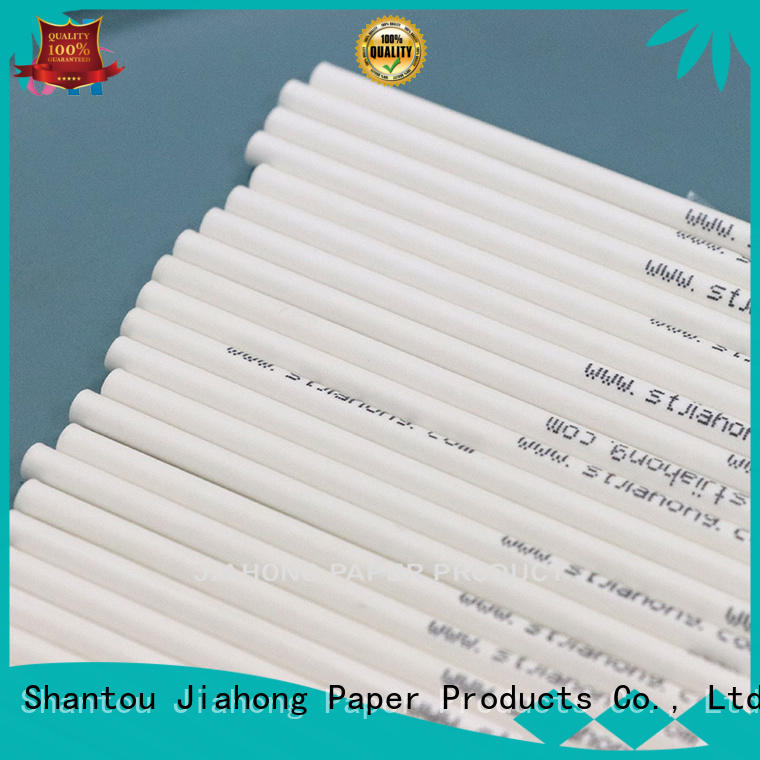Jiahong popular red and white lollipop sticks markting for lollipop