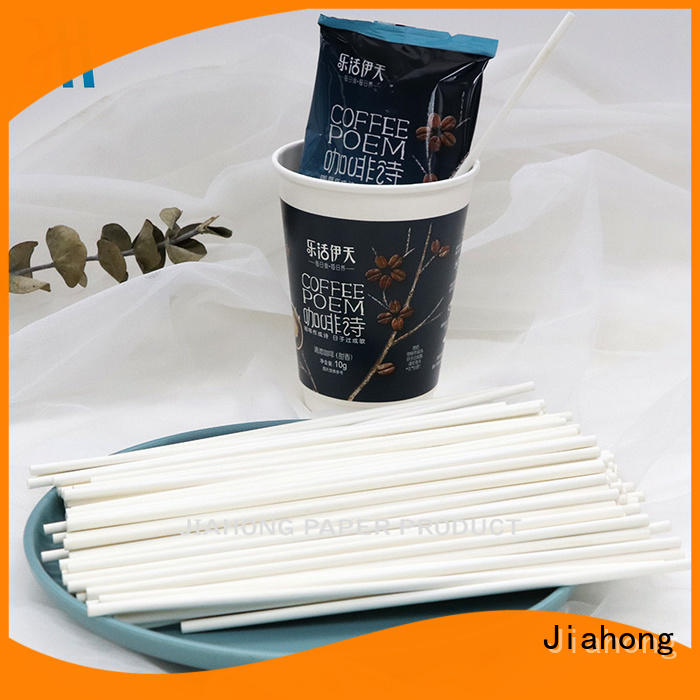 Jiahong paper drink stirrers factory price for cafe