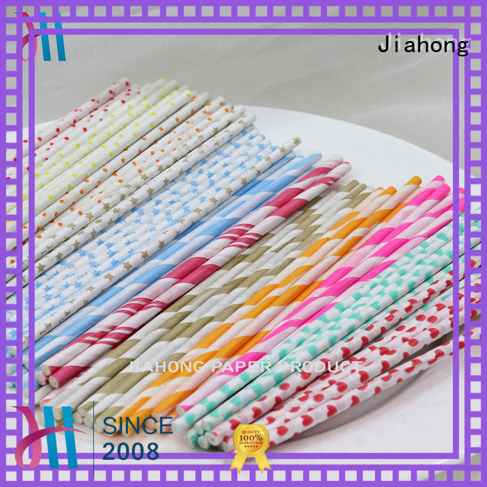 Jiahong code lolly pop sticks in different colors for lollipop