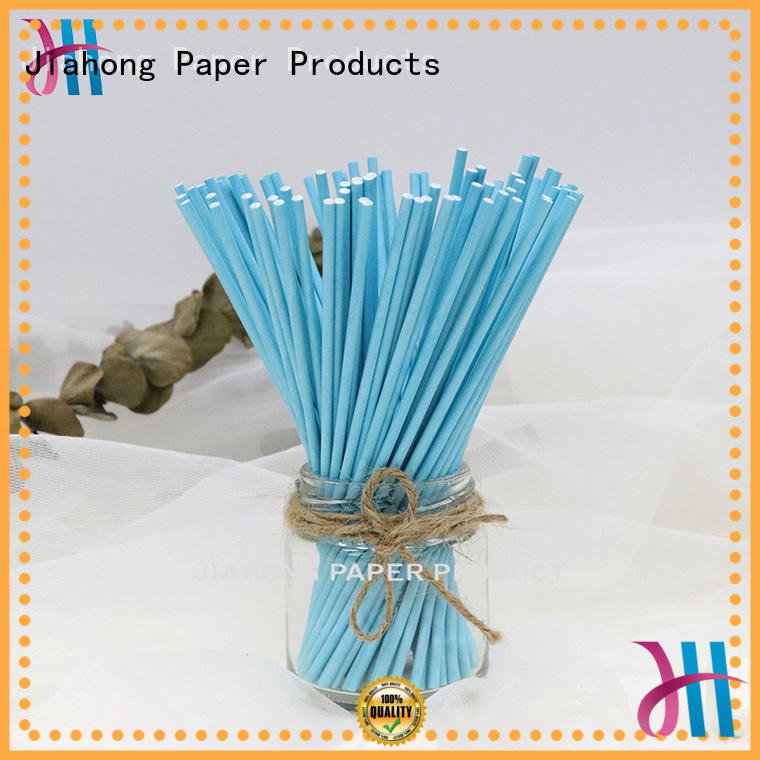 Printed paper sticks for candy blue lollipop sticks 3.0*152mm