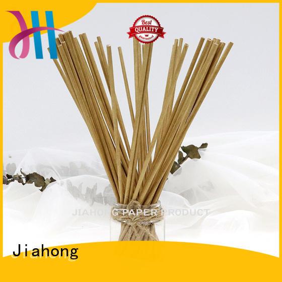 Jiahong handiwork hand fan sticks export for lollipops
