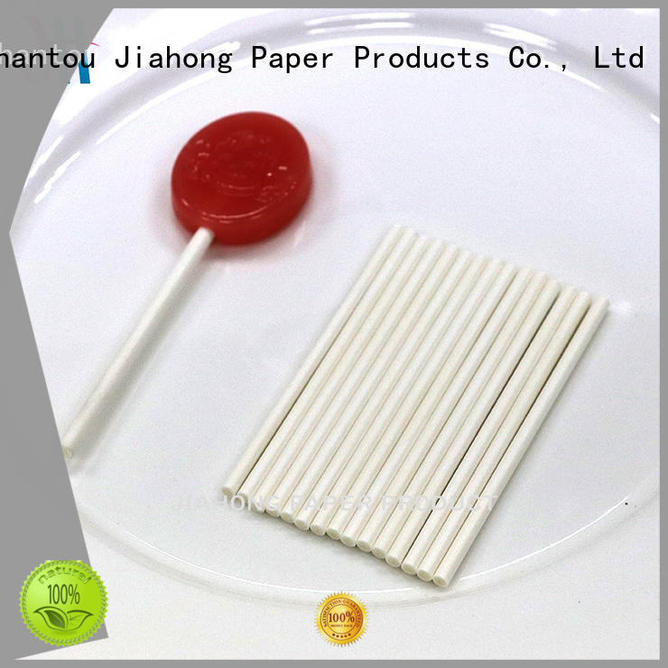 Jiahong lolly white lollipop sticks markting for lollipop