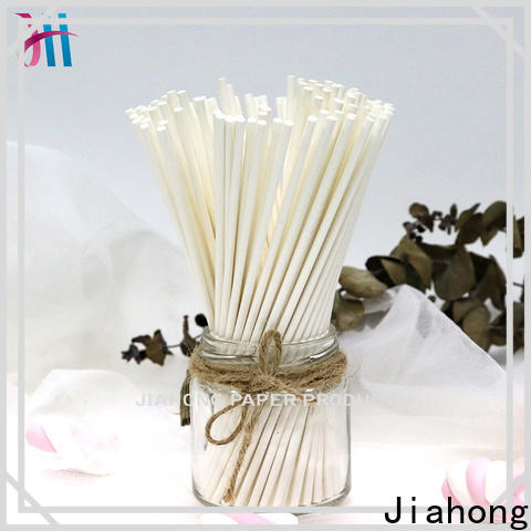 Jiahong candy coloured lollipop sticks markting for lollipop