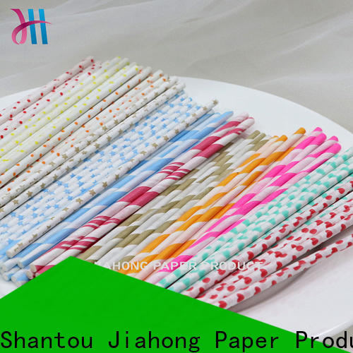 Jiahong clean paper lolly sticks in different colors for lollipop