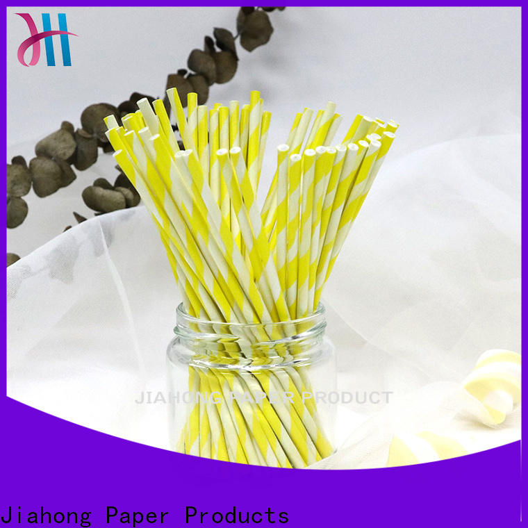 Jiahong striped blue lollipop sticks vendor for lollipop