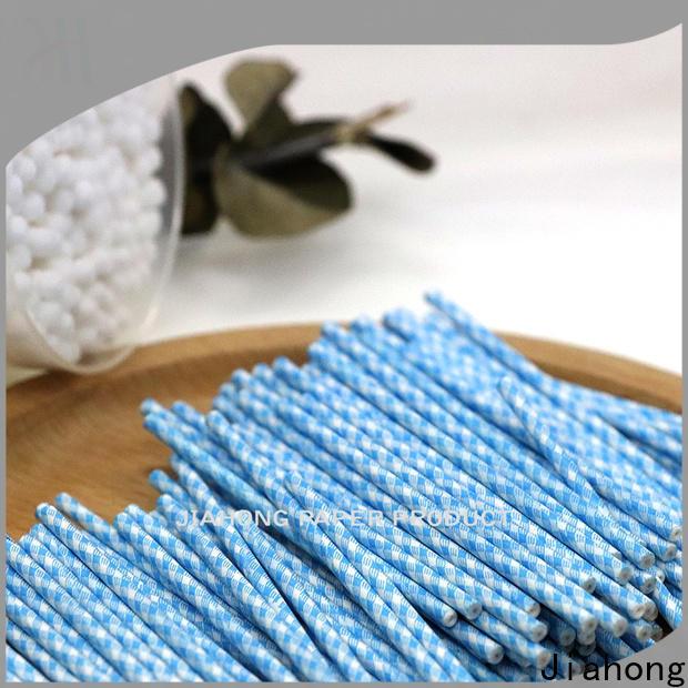 Jiahong biodegradable cotton swab paper stick marketing for hospital
