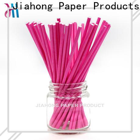 Jiahong environmental colored lollipop sticks grab now for lollipop