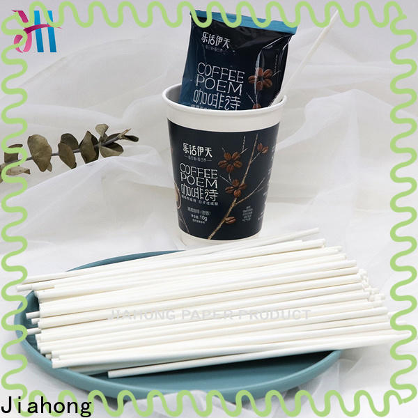 Jiahong advanced technology coffee stir sticks certification for packed coffee