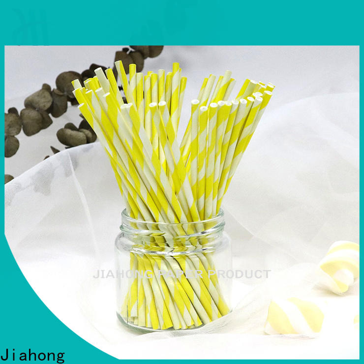 Jiahong clean paper lolly sticks factory price for lollipop