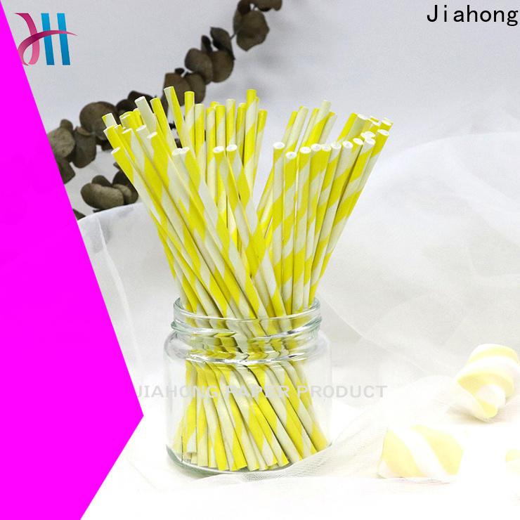 Jiahong extra coloured lollipop sticks markting for lollipop