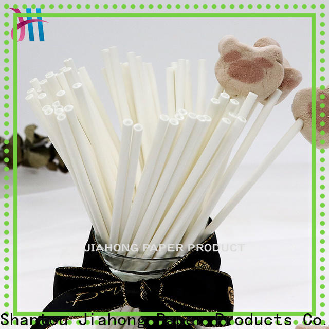 Jiahong fashion design paper lolly sticks in different colors for lollipop