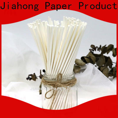 Jiahong certificated paper lolly sticks in different colors for lollipop