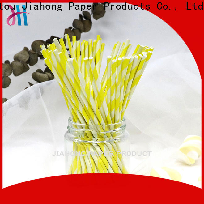 Jiahong eco friendly lolly pop sticks in different colors for lollipop