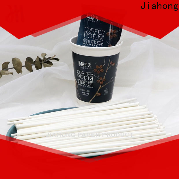 Jiahong paper reusable coffee stirrers export for packed coffee