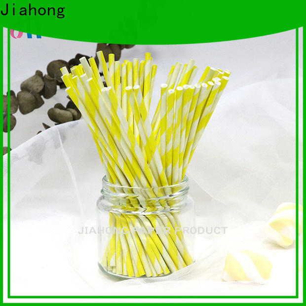 Jiahong striped colored lollipop sticks factory price for lollipop