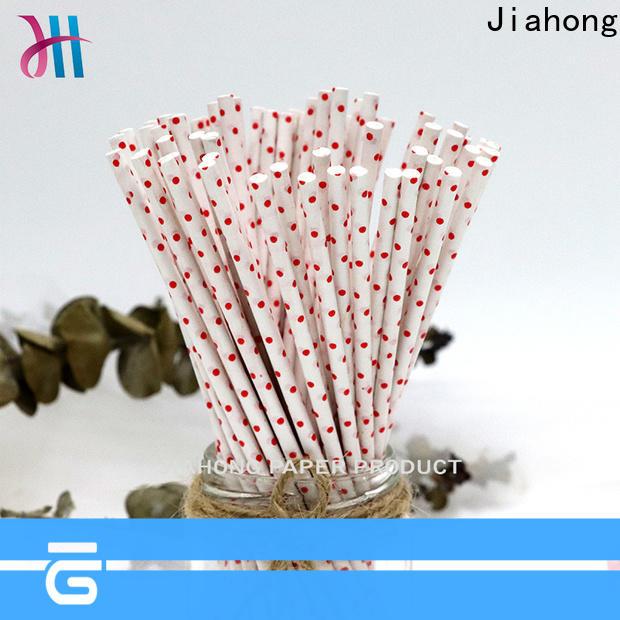 Jiahong colorful large lollipop sticks types for lollipop
