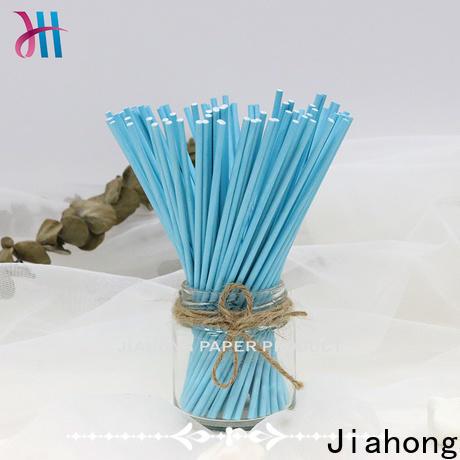 Jiahong white long lollipop sticks factory price for lollipop