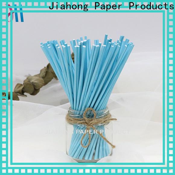 Jiahong certificated blue lollipop sticks markting for lollipop